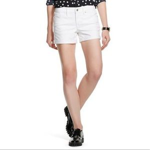 Mossimo White Jean Shorts